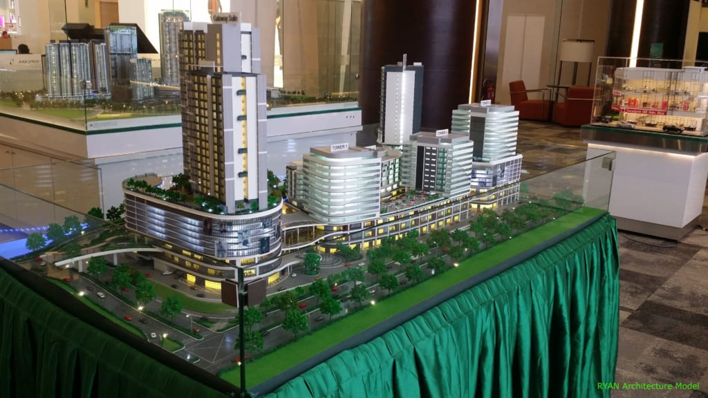 mô hình kiến trúc cao ốc
