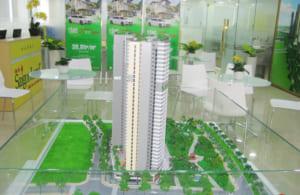 Mô hình kiến trúc dự án Cao ốc Blue Diamond