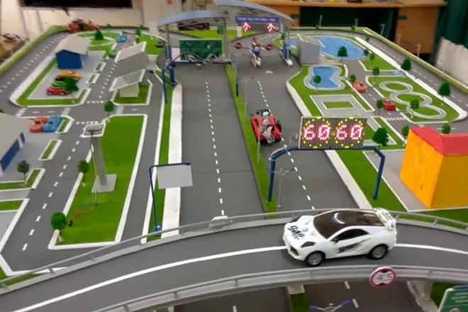 mô hình sa bàn giao thông